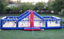 Commercial giant inflatable volleyball court/inflatable beach volleyball court/inflatable volleyball ball game field A6038