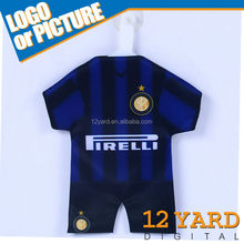 Italy famous football clubs printing mini football t-shirt suction cup window decoration mini jersey