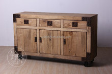 French style living room cabinet,antique white solid wood cabinet.wooden sideboard