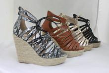 Ladies Hemp Rope Wedge Sandals/ Fashion shoes