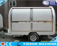 New Style Fibreglass mini food van mini caravan catering trucks for sale food truck