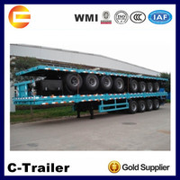 40ft well flatbed cargo trailers and trucks 3 axles