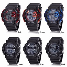 YX9037 Big Size PU Strap Military Digital Watch 3atm Water Resistant