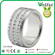 new design fashion cz stone big custom hot sell spikes titanium rings