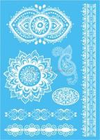 Lace Black & White Genius/Dandelion Pattern Temporary Tattoo Waterproof Bady Art Stickers Removable