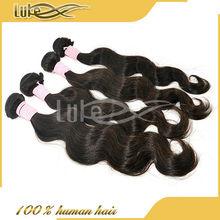 grade AAAAA quality virgin brazilian human wavy hair .100% full cuticle woven hair