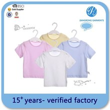Oem Service Blank Baby T-Shirts Wholesale Plain T-Shirts Clothing For Baby