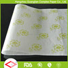 40gsm White Food Burger Wrap Baking Use Printed Greaseproof Paper Parchment Sheet