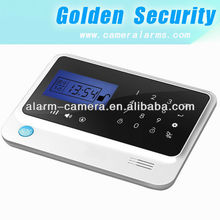most popular ingenious touch screen GSM security alarm system with remote control featured and 433 FM frequency