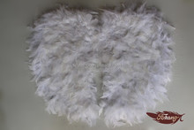 Pluma de turquía alas de ángel blanco