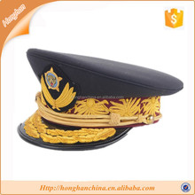 captain hat with normal embroidery visor for seaman