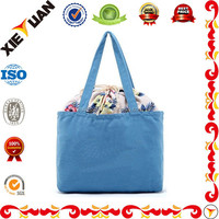Beach wind grocery 100% appendix cotton shoulder bag drawstring shopping bags portable tote bag