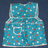 blue color with white and red elephants printed cute children apron