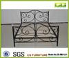 2015 popular uk style Top-selling modern beautiful cheap latest design Metal bed frame single/double wood slat base metal bed
