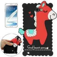 New Arrival 3D Silicone Case for Samsung Galaxy Note 2 Cute Cases