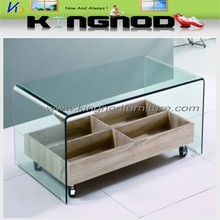 Home furniture hot bending glass coffee table /side table