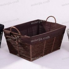 new rustic home storage paper craft basket with handle
