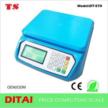 New design 30kg 1g digital price scale with green backlight