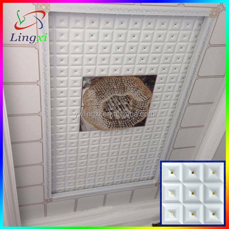Metal drop ceiling tiles