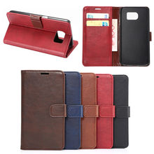 PU leather phone Cover For Samsung S6 with credit card