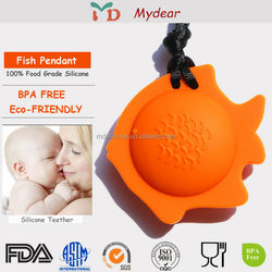 BPA free baby teether silicone pendant/ Teething Pendant