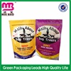 fashional new design stand up colorful pet food packaging bag