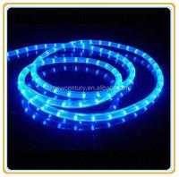 110V/220V 50m round 2 wires 13mm IP65 flexible blue led rope light outdoor christmas lights