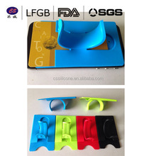 Factory directly sale Touch U silicone mobile phone card holder , cell phone credit card holder