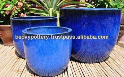Aatx grande en plein air pot en c ramique c ramique for Pot ceramique exterieur