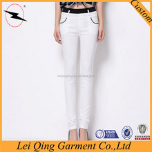 High quality stretch thin cotton trousers for famale
