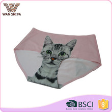 Safety pants seamless cute cat printing comfortable cheap girl panty