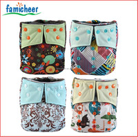 Famicheer Colored Snaps Washable Bamboo Inner AIO Cloth Diapers