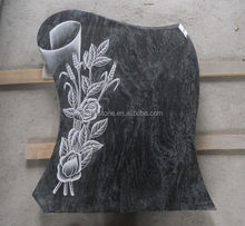 Hot Sale Granite carved rose headstone Tombstone Pictures
