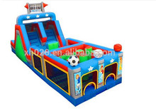 Giant funny mega sport inflatable kids obstacle course 40x12x16ft