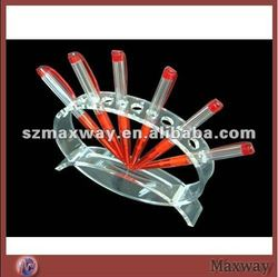 Clear Heat Bending Counter Top Freestanding Acrylic Pen Holder with Smooth Appearance