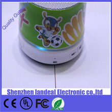 Wholesale suction LED lighting bluetooth wireless mini portable speaker world cup design with TF for world cup football