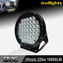 Super Bright 9 inch 185Watt Round LED Driving Light SPOT 4X4, Factory price 225w led driving light
