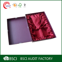 Wholesale printed cardboard gift boxes for wine glasses