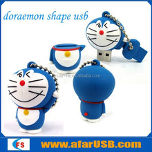 Cute PVC cartoon character doraemon prmotional usb drives,custom Promotional cat shaped USB Flash Drive,3D usb stick