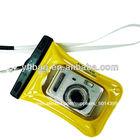 2013 nova amarelo pvc câmerasdigitais impermeável caso