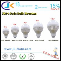 Alibaba china new products 2015 rohs unique designed e27 b22 plastic bulb led assembly parts