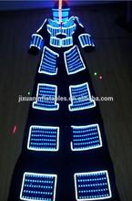 Diodo emissor de luz de carnaval fantasias para adultos e crianças&/robot roupa led