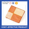 Fashion stitching yellow color mens cow leather wallets