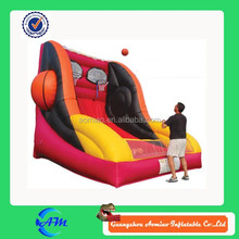 Hot sale inflatable game, inflatable basketball game for double shooting, inflatable sports game