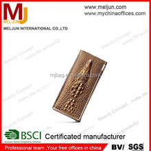 2015 high quality crocodile skin leather purse