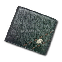 2015 Hot selling classic excellent quality pocket purse genuine man leather wallet