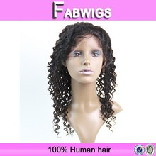 Fabwigs 2015 New aliexpress Hair Fast delivery indian women hair wig highlights for black hair, full lace wig with highlights