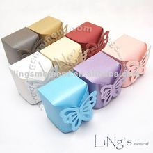Butterfly Pattern Wedding Favors Favour Candy Gift Bomboniere Boxes for Guests