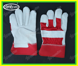 Personal Protective Equipment cow split leather work glove prevent damage to hands