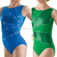 Hot Sale Rhinestone Competition Leotards For Girls